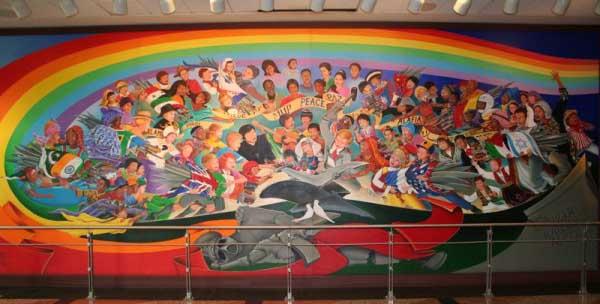 DIA1-2ndMural-MainPicture: New World Order Airport - Occult art
