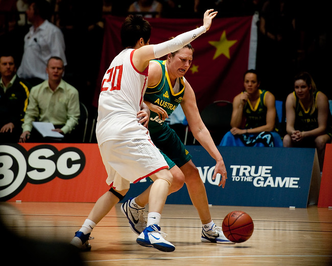 Suzy Batkovic - Opals v China International Women's Basketball, Logan Metro Sports Centre, Crestmead, Queensland, Australia; 24 July 2011. Photos by Des Thureson:  http://disci.smugmug.com.