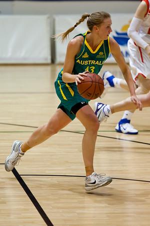 Hanna Zavecz - Opals v China International Women's Basketball, Logan Metro Sports Centre, Crestmead, Queensland, Australia; 24 July 2011. Photos by Des Thureson:  http://disci.smugmug.com.