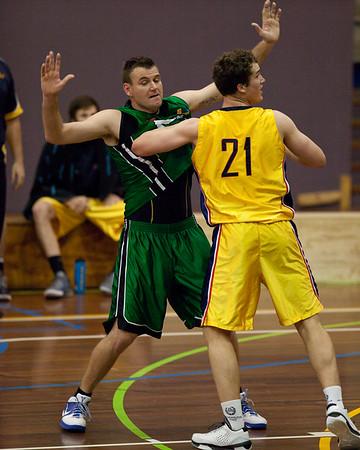 Scott MaGregor, Jarred Bairstow - QBL Quarter Final Basketball: Gold Coast Rollers v Brisbane Capitals; Carrara, Gold Coast, Queensland, Australia. Photos by Des Thureson:  http://disci.smugmug.com.