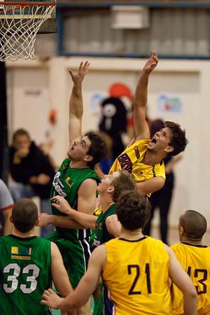 Garrett Scheibner - QBL Quarter Final Basketball: Gold Coast Rollers v Brisbane Capitals; Carrara, Gold Coast, Queensland, Australia. Photos by Des Thureson:  http://disci.smugmug.com.