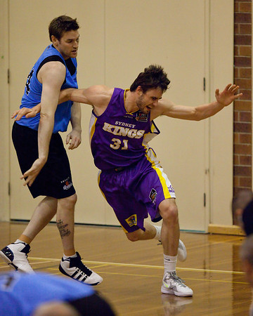 Anatoly Bose, Dillon Boucher - Sydney Kings v New Zealand Breakers - Sunshine State Challenge Pre-season NBL Basketball, Southport School, Gold Coast, Queensland, Australia; 22 September 2011. Photos by Des Thureson:  http://disci.smugmug.com.