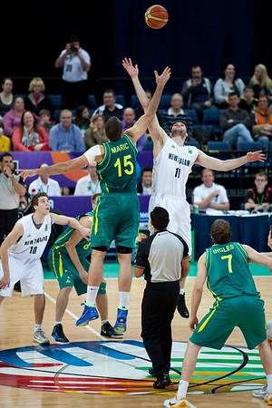 Australian Boomers v New Zealand Tall Blacks FIBA Oceania Championship International Men's Basketball, Brisbane Entertainment Centre, Boondall, Brisbane, Queensland, Australia; 9 September 2011. Photos by Des Thureson:  http://disci.smugmug.com.