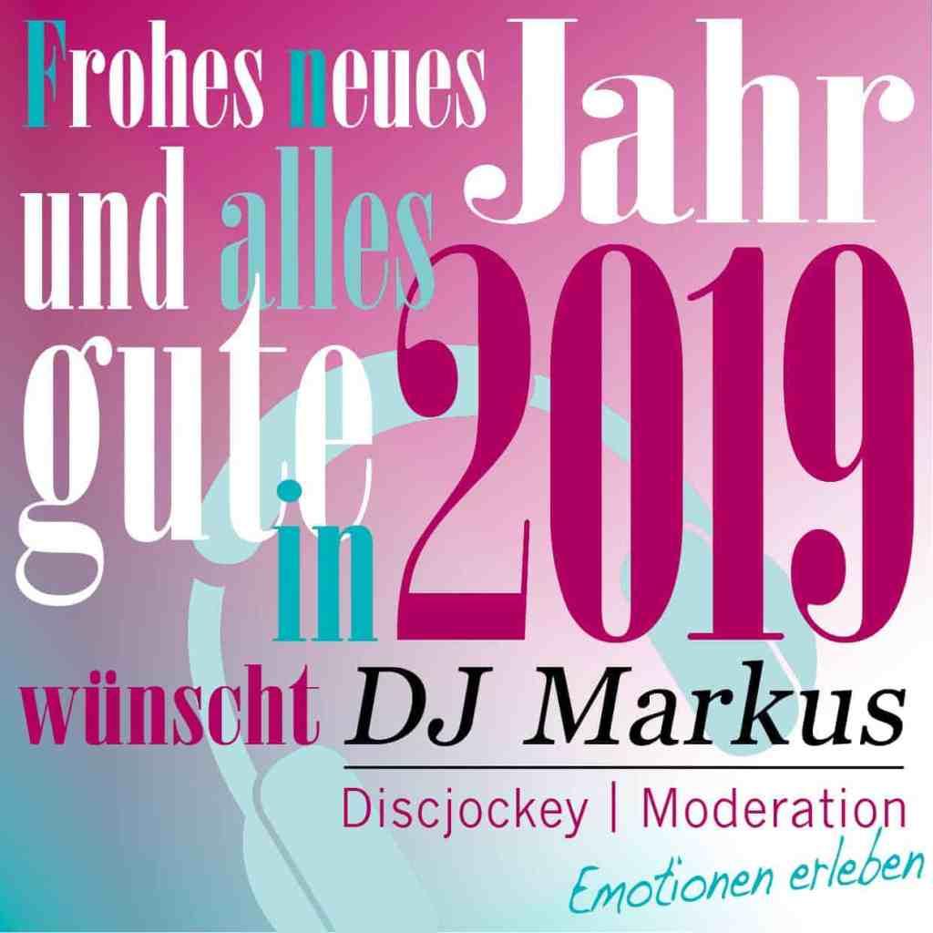 DJ Markus wünscht ein frohes neues Jahr