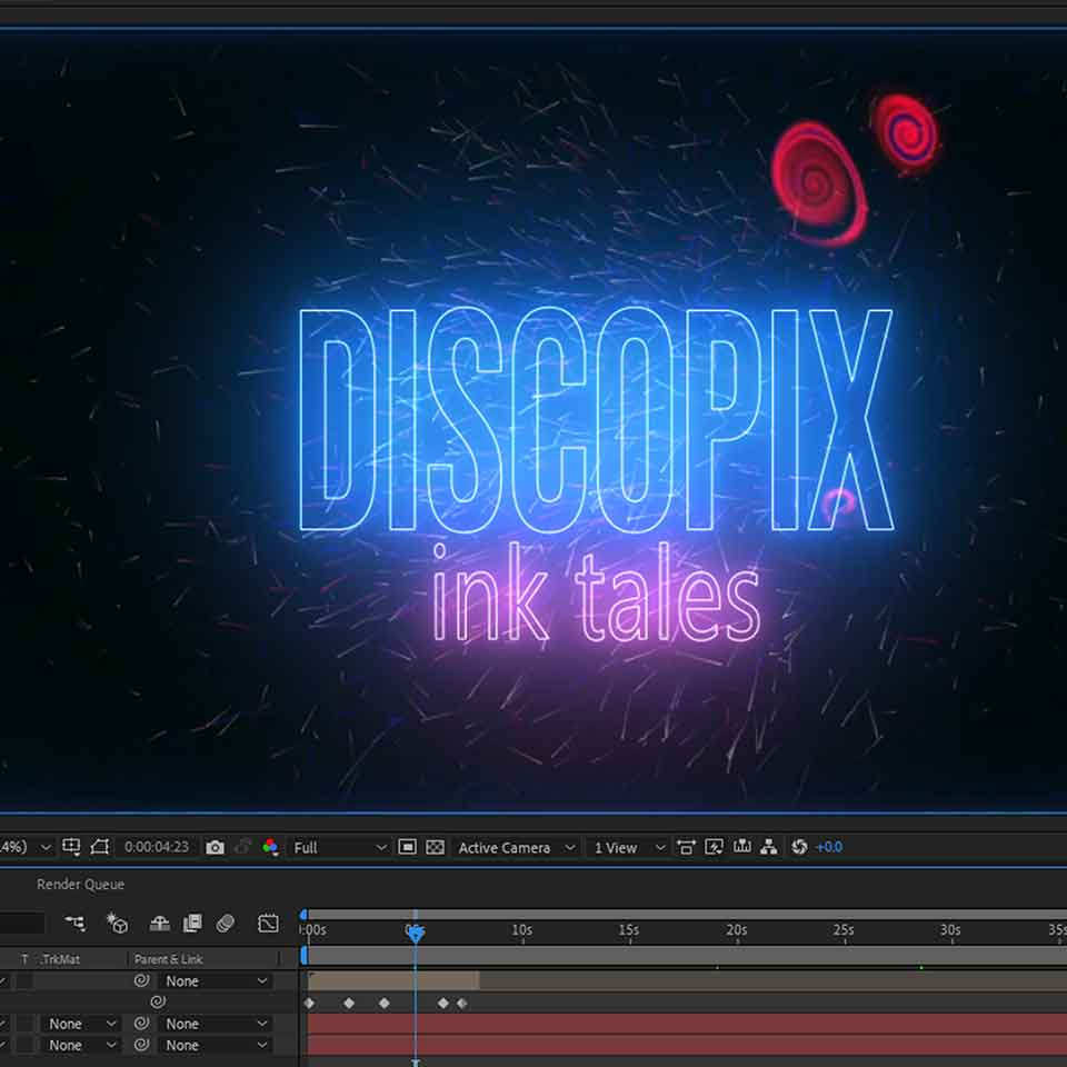 Discopix InkTales AfterEffects Logo Animate