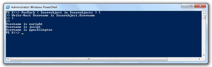 powershell import-csv foreach