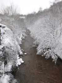 View from Pontlottyn bridge and river Rhymney
