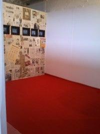 Graduate exhibition set up