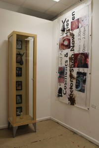 display cabinet and banner