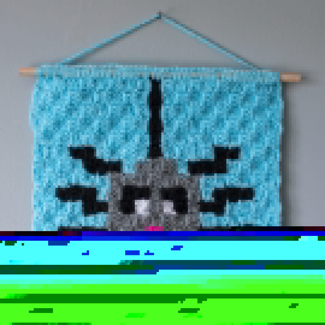 spider corner to corner crochet wall hanging