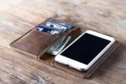 An iPhone wallet case