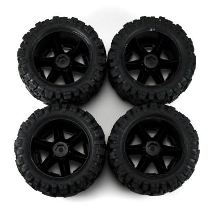 Traxxas Rustler 4X4 VXL Talon Extreme Factory Glued Wheels & Tires 6773R