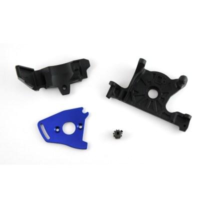 Traxxas Rustler 4X4 VXL Motor Mount & Plate w/ 11-T Pinion Gear & Gear Cover