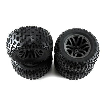 Arrma Granite V3 4X4 3S BLX Wheels Tires Set Glued dBoots Fortress MT ARA550086
