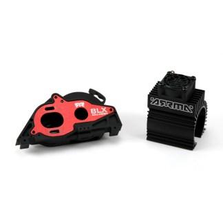 Arrma Typhon V3 4X4 3S BLX Aluminum Slider Motor Mount w/ Heat Sink & Fan