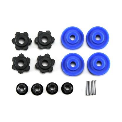 Traxxas 1/10 Maxx Wheel Hubs Blue Spacers Wheel Nuts Pins 17mm Splined