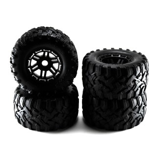 Traxxas 1/10 Maxx All-Terrain Tires Black Wheels, Factory Assembled Glued
