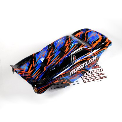 Traxxas Rustler 2WD VXL Body Shell (Orange/Blue) Painted Decaled