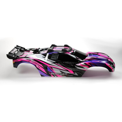 Traxxas Rustler 4X4 VXL Pink/Purple Body Shell w/ Clipless Mounting