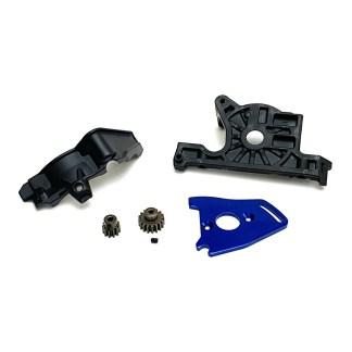 Traxxas Rustler 4X4 VXL Motor Mount Plate 11T 17T Pinion Gear w/ Gear Cover