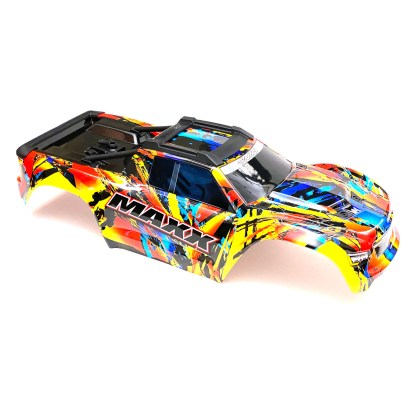 Traxxas 1/10 Maxx 4WD 4S Body Shell Solar Flare Painted Decaled