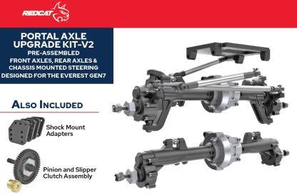 Redcat Racing Everest Gen7 Pro/Sport Portal Axle Kit Assembled V2 RER13366