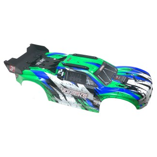 Arrma Vorteks 3S BLX 4X4 Painted Decaled Trimmed Body Shell Green/Blue
