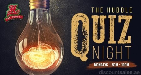 Huddle Quiz Night Monday Offers