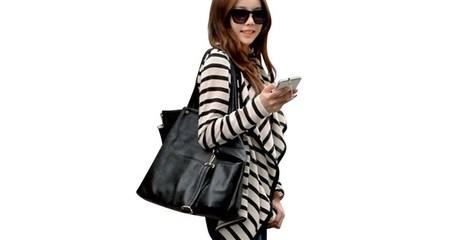 Ladies' Striped Cardigan