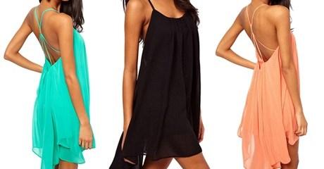 Dipped Hem Summer Dress