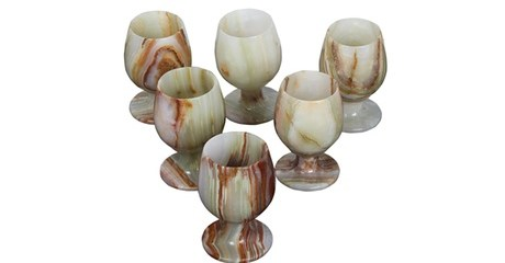 6-18 White Onyx Glasses
