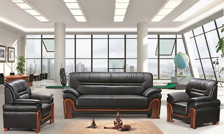 5-Seater Solid Wood Sofa Set
