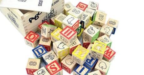 Educational Wooden ABC Blocks Set