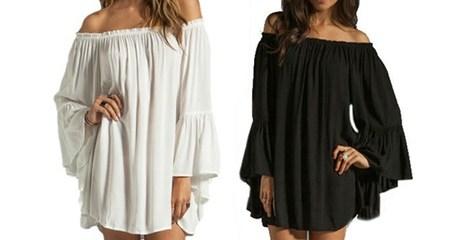 Low-Shoulder Beach Dress