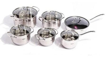 12-Piece Stainless Steel Pot Set