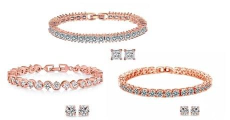 Bracelet and Stud Earrings Set