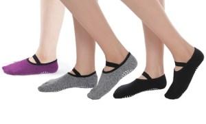 Anti-Slip Ankle-Length Yoga Socks