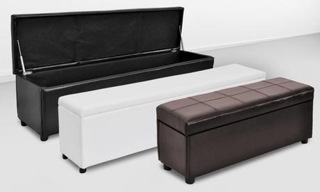 LeatheretteStorage Bench