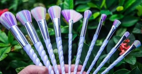 10-Piece Unicorn Make-Up Brush Set