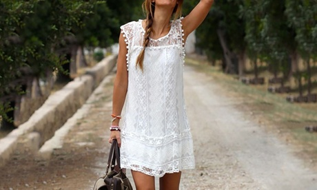 Sleeveless Lace Summer Dress