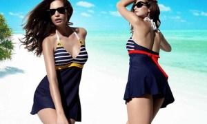 Push-Up Swimwear with Skirt