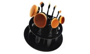 10-Piece Oval Make-Up Brush Set