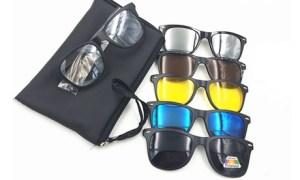Five-in-One Clip-on Sunglasses