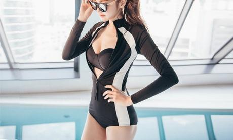 Two-Piece Rashguard Swimsuit