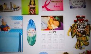 Three Personalised Calendars