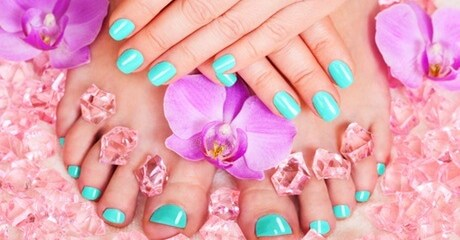 A professional beautician gives nails a makeover with a file