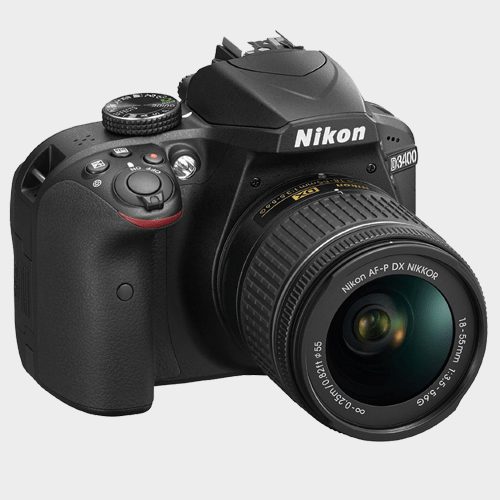 Nikon SLR Camera D3400 + AF-P 18-55 Black Price in Qatar