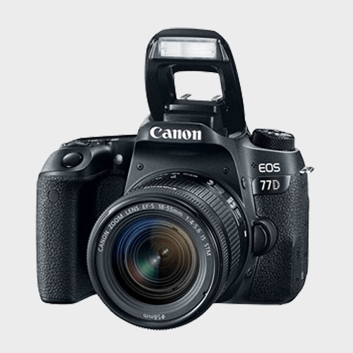 Canon DSLR Camera EOS-77D + 18-55mm IS Black Price in Qatar
