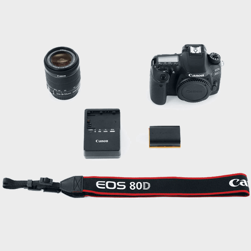 Canon DSLR Camera EOS 80D 18-55mm Lens Price in Qatar Lulu