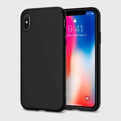 Spigen iPhone X Case Liquid Crystal Matte Black price in Qatar